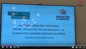Imagen de la noticia: Acto firma convenio entre Diputación de Badajoz y ...