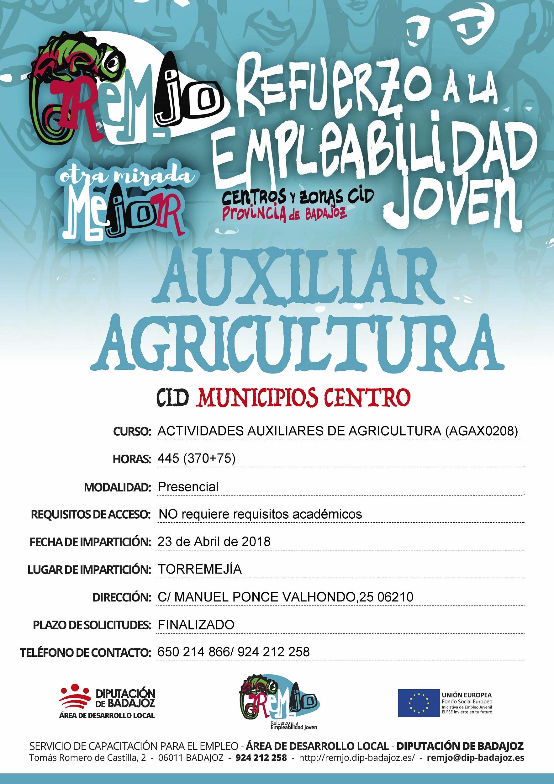 Cartel Actividades Auxiliares Agricultura final
