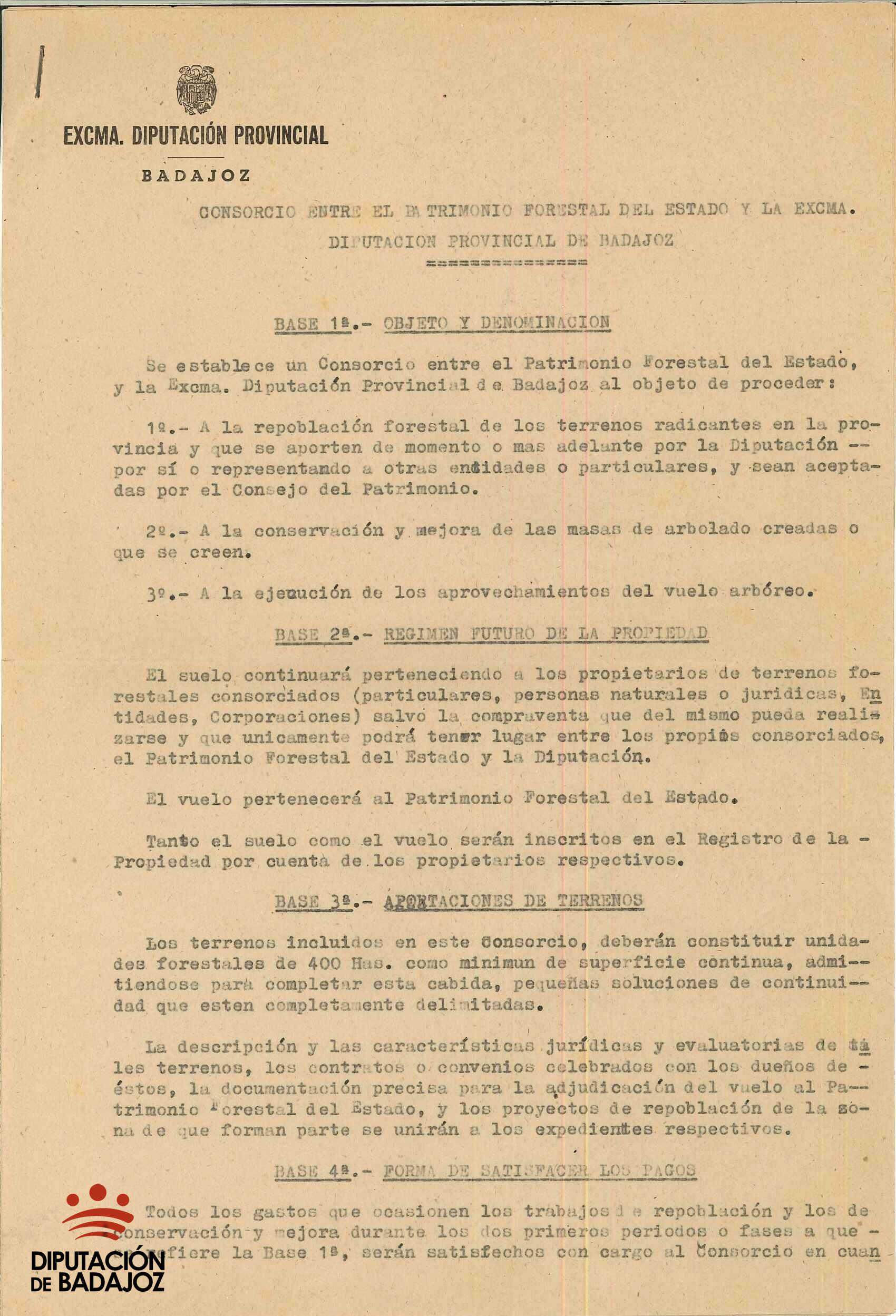 Consorcio Diputación Provincial-Patrimonio Forestal del Estado.