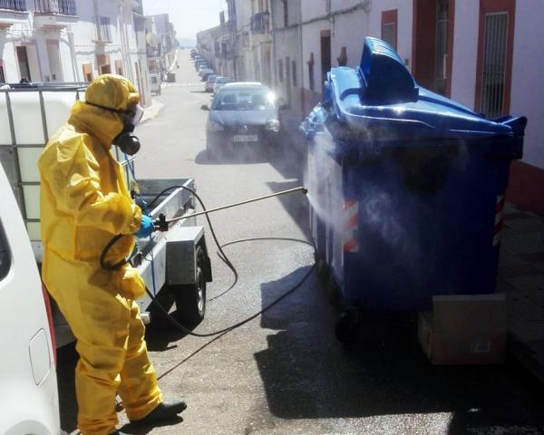 Plan de ayuda para tareas de desinfección en municipios de la provincia