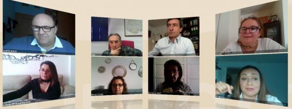 Reunión informativa del Área de Recursos Humanos con los agentes sociales de la Diputación de Badajoz