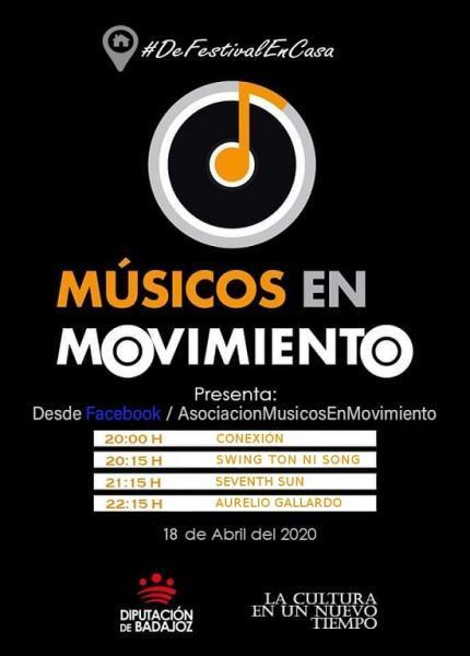 """""""Swing Ton ni Son"""", """"Seventh Sun"""" y """"Aurelio Gallardo"""" ofrecen el segundo concierto online de """"Músicos en movimiento"""""""