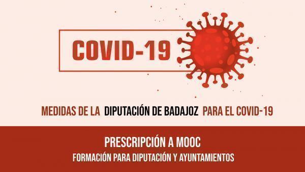 La Diputación de Badajoz oferta cursos de formación online para su plantilla y Ayuntamientos