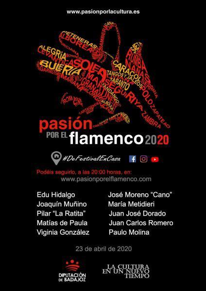 """El circuito """"Pasión por el Flamenco"""" ofrece un concierto online promovido por la Diputación de Badajoz"""