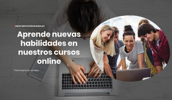 Gran acogida de los cursos online de formación de la Diputación para su plantilla y ayuntamientos