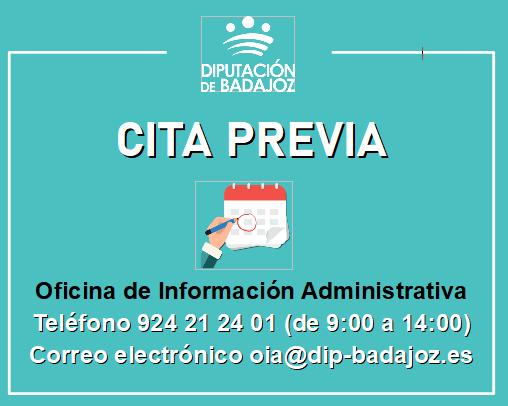 La Oficina de Información Administrativa atenderá al público para la realización de trámites presenciales solamente mediante el sistema de cita previa