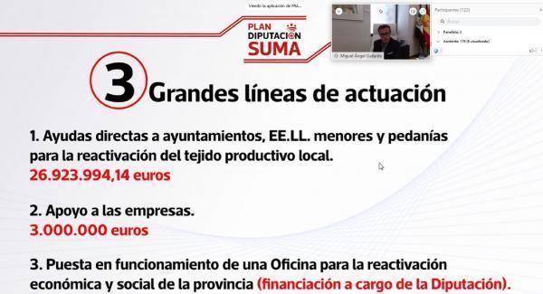 El presidente presenta a los alcaldes de la provincia los detalles del Plan Diputación Suma +