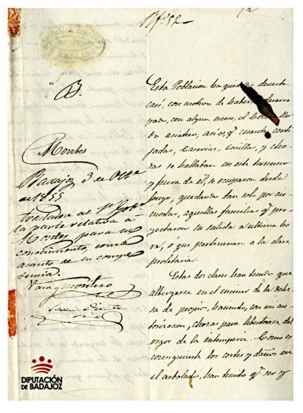 El cólera morbo, azote de nuestra provincia en el siglo XIX, documento del mes de junio del Archivo Provincial