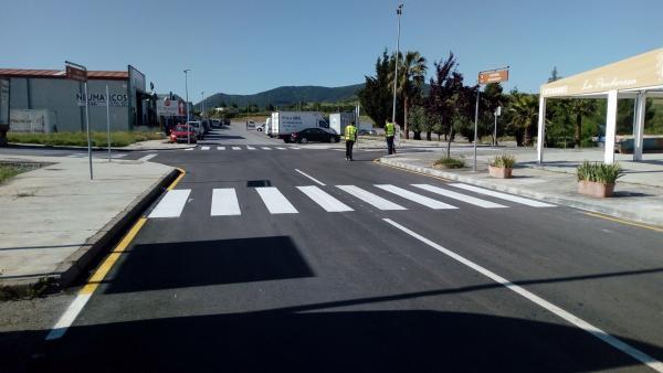 La Diputación de Badajoz finaliza las obras de mejora en el polígono industrial 'El Alcornocal' en Monesterio