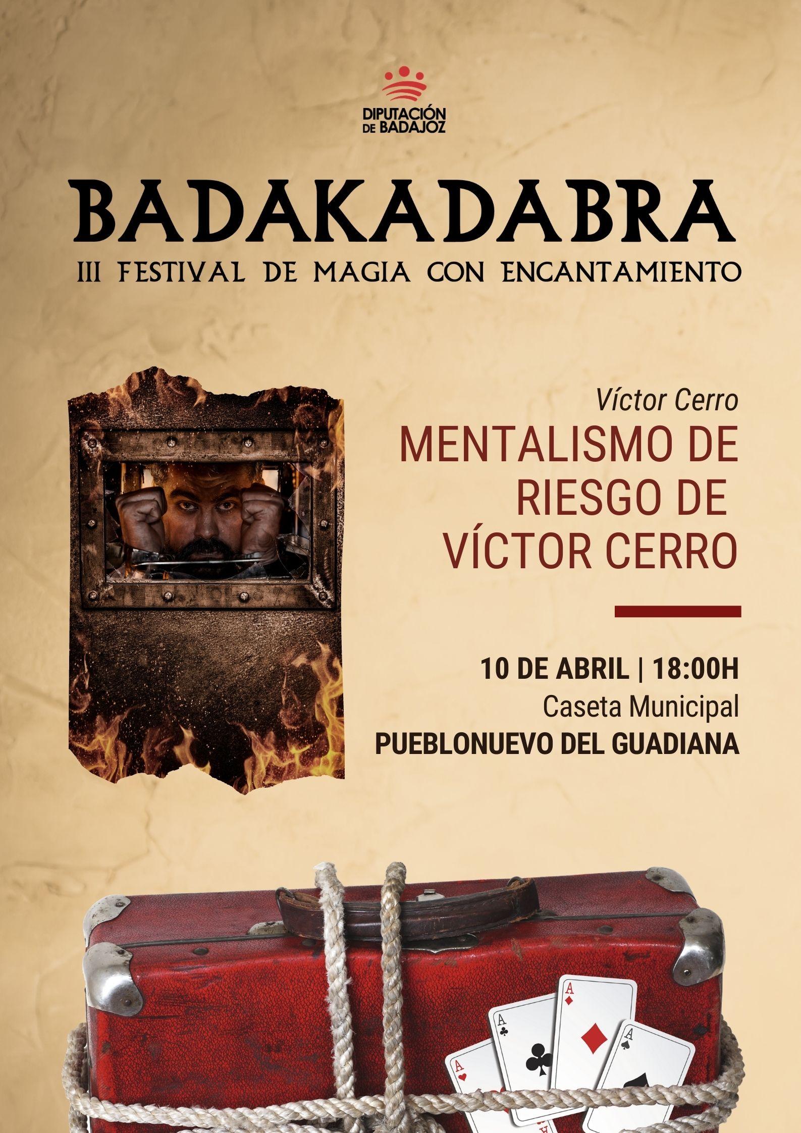 Imagen del Evento Mentalismo de riesgo de Víctor Cerro