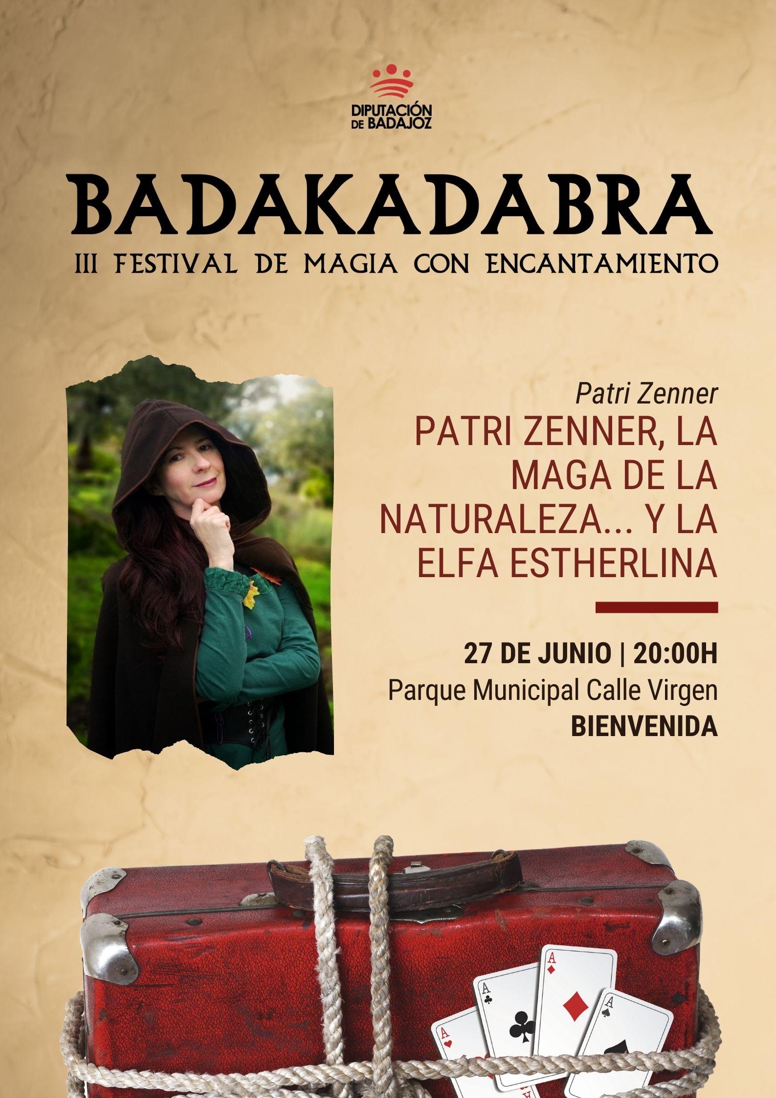 Imagen del Evento Patri Zenner, la maga de la Naturaleza... y la elfa Estherlina