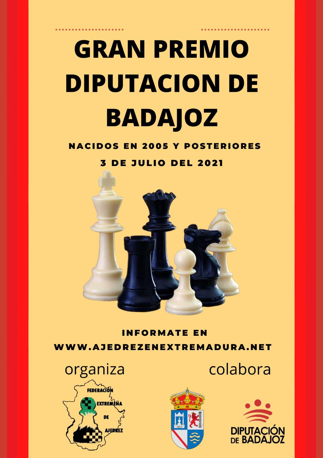 Imagen del Evento Torneo Gran Premio Diputación de Badajoz de Ajedrez