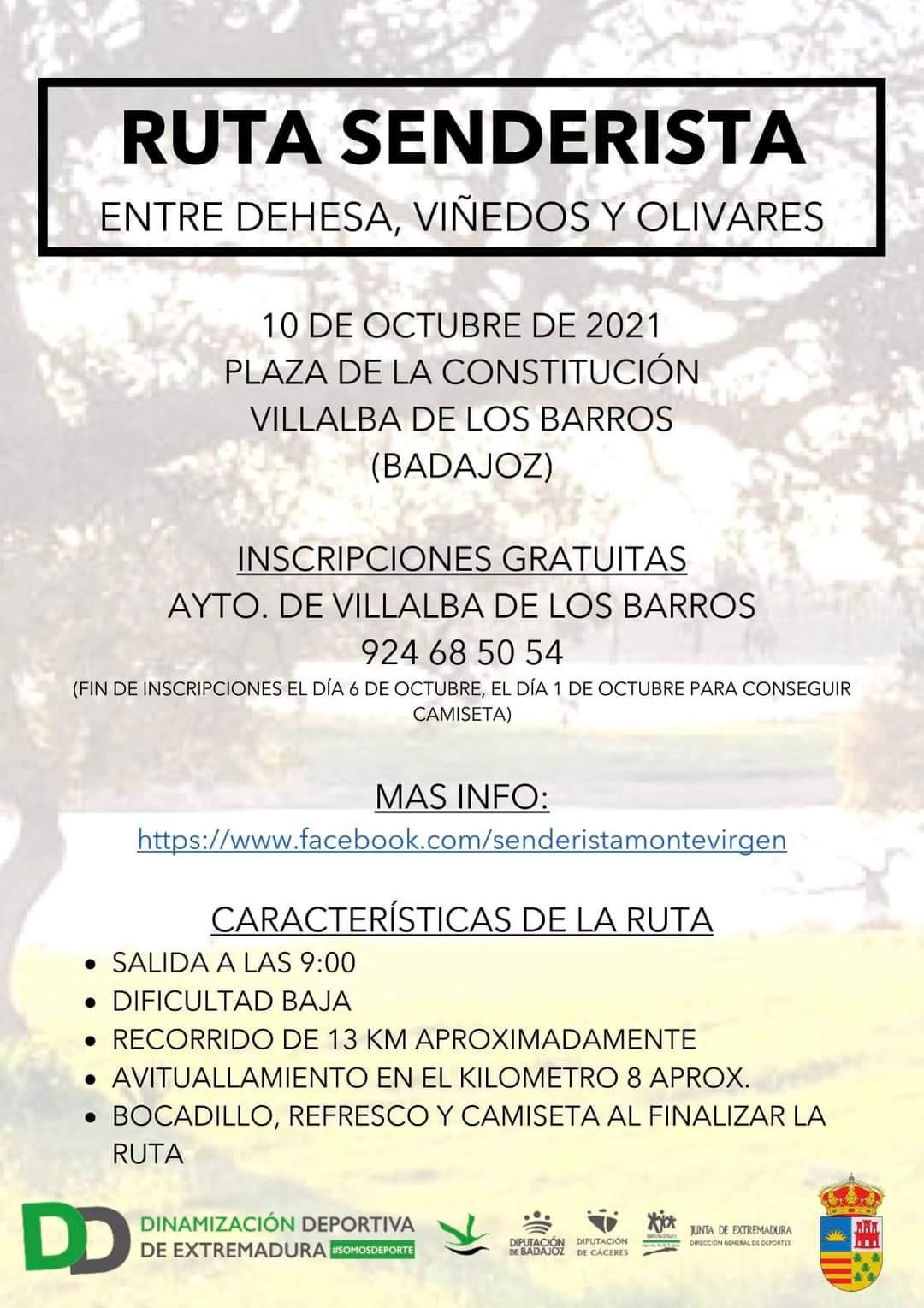 Imagen del Evento Ruta Senderista Entre Dehesa, Viñedos y Olivares