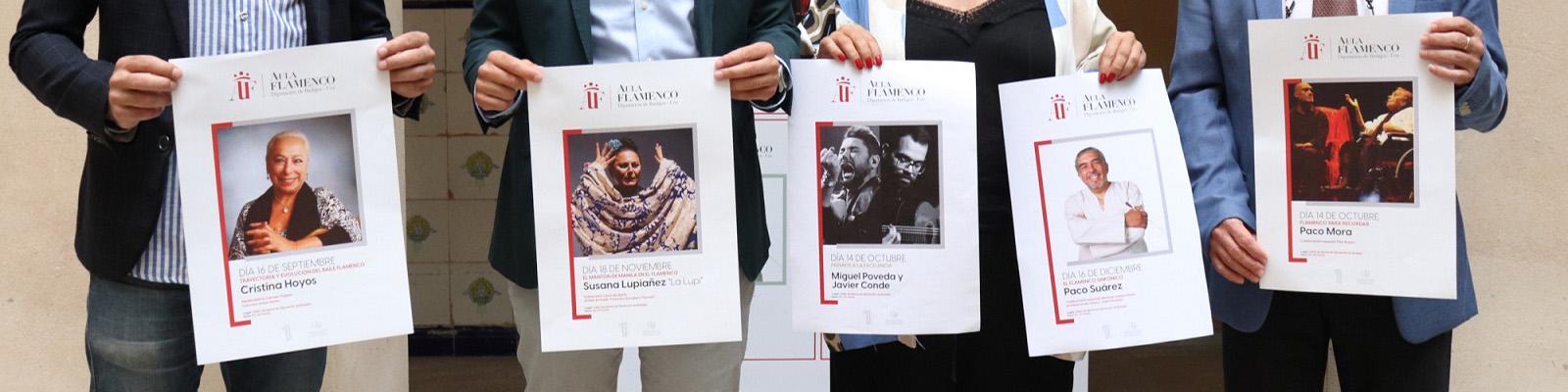"""Cristina Hoyos, Paco Mora, """"La Lupi"""" y Paco Suárez componen el cartel del III Aula de Flamenco"""