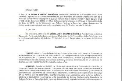 Imagen de la noticia: Convenio entre la Junta de Extremadura y la Diputa ...