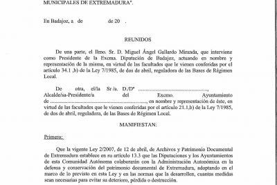 Imagen de la noticia: Colaboración entre la Diputación de Badajoz y lo ...