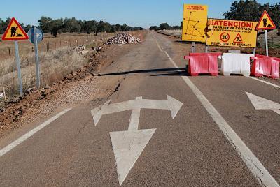 Imagen de la noticia: Corte en la carretera provincial BA-079, de Hornac ...