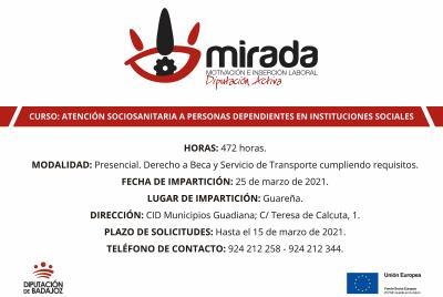 Imagen de la noticia: Diputación de  Badajoz iniciará un curso de aten ...