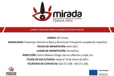 Imagen de la noticia La Diputación de Badajoz iniciará un curso de Instalacione?>