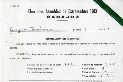 Imagen de la noticia: Elecciones en Extremadura en 1983 ...