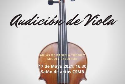 Imagen de la noticia: Audición de Viola ...