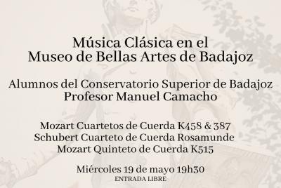 Imagen de la noticia: Música Clásica en el Museo de Bellas Artes ...