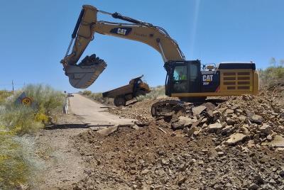 Imagen de la noticia: Acondicionamiento de la carretera provincial BA-12 ...