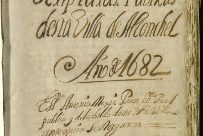 Imagen de la noticia El Archivo Provincial publica un protocolo notarial de Alcon?>