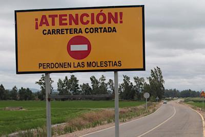 Imagen de la noticia: Corte en la Carretera Provincial BA-022, de Badajo ...