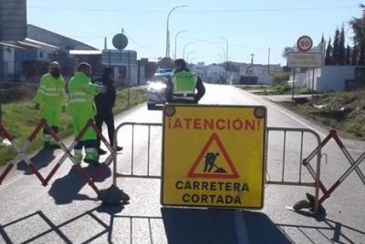 Imagen de la noticia: Corte al tráfico de la carretera BA-170 de Fuente ...